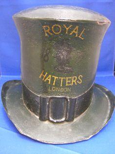 Fabulous Antique Tin Hatmaker's Trade Sign by footballcaptain20, $1,500.00