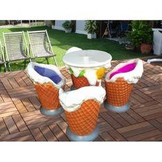 Bahçe Masa Takımı - Dondurma süsü