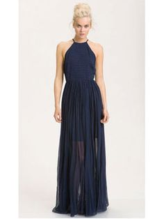 French Connection Sheer Overlay Halter Maxi Dress in Nocturnal, $268, Nordstrom.com.