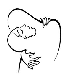 """Josef Kunstmann, """"The Embrace"""". Published in """"The Circle"""" No. 3, 1949."""