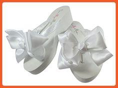 Flip Flops for Wedding in White 2 inch Heel - Sandals for women (*Amazon Partner-Link)