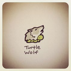 Turtle Wolf - I live this😂 Cute Turtle Drawings, Cute Animal Drawings, Cute Drawings, Cute Turtles, Baby Turtles, Kawaii Turtle, Sheldon The Tiny Dinosaur, Cartoon Turtle, Kawaii Doodles