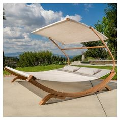 Marrakech Outdoor Wood Sunbed with Canopy by Christopher Knight Home (Brown), Patio Furniture Outdoor Daybed, Outdoor Furniture, Outdoor Decor, Modern Furniture, Rustic Furniture, Furniture Layout, Furniture Deals, Antique Furniture, Furniture Design