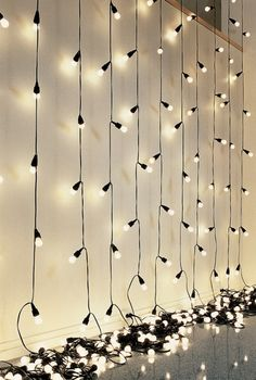 Christmas lights behind thin (dollar tree store) black trash bags for star wall mood lighting or just in a dark room for star lighting...