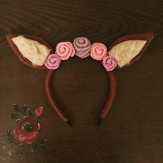 gehäkelte Bambi Ohren für ein Kostüm
