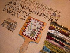 Sampler antique, précisions et petit cadeau !