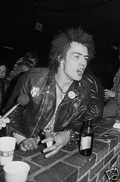 The Sex Pistols Sid Vicious in bar