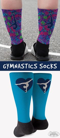 Our fun and vibrant printed socks are a great gift idea for any gymnast! Gymnastics Coaching, Gymnastics Gifts, Looks Great, Cheer, Great Gifts, Vibrant, Socks, Printed, Fun