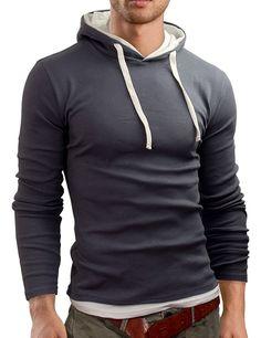 Grin&Bear Men's Long Sleeved Hoodie Grey M at Amazon Men's Clothing store: Fashion Hoodies