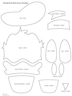 donald duck template cut-out for fekt board Mickey Mouse Clubhouse Party, Mickey Party, Mickey Mouse Birthday, Mickey Minnie Mouse, 3rd Birthday, Donald Duck Cake, Donald Duck Party, Disney Diy, Disney Crafts