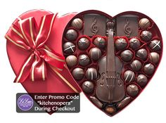 Li-Lac Chocolates Special Edition Music Lover's Heart!