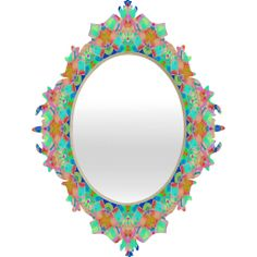 Lisa Argyropoulos Geometria Baroque Mirror | DENY Designs Home Accessories #baroque #mirror #geometric #pretty #colorful #decor #home #bedroom #gifts #holiday #DENYholiday #DENYdesigns #shopsmall