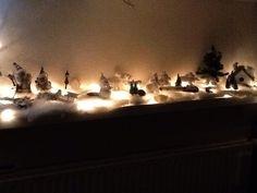 Sneeuwlandschap met lichtjes