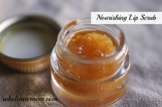 This Nourishing Lip Scrub is super simple and made from such yummy and healthy ingredients--you dont need to worry about accidentally eating some :)!