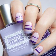 Purple nails !! (: #Lineas !!