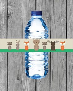 Printable Woodland Animals Water Bottle Labels Woodland Creatures, Woodland Animals, Printable Water Bottle Labels, Free Baby Shower Printables, Water Party, Woodland Baby, Shower Ideas, Shower Games, Shower Party