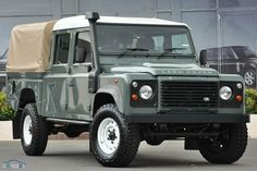 My favorite, a 2013 Land Rover Defender 130 in these colors and wheels.