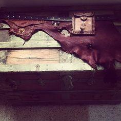 Handmade Elk leather adjustable gypsy tribal by thegypsiescaravan, $191.00