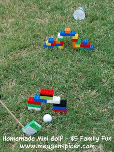 Utilize a variety of household items to create your very own mini golf course in your backyard...for under $5. For more $5 Family Fun ideas, visit www.megganspicer.com or facebook.com/megganspicer.
