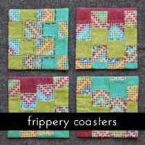 tutorials: sewing for the home    imagine gnats coasters