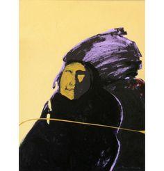 "American Portrait as an Apparition   Fritz Scholder Acrylic on Canvas  1975   40"" x 30"" $40,000"