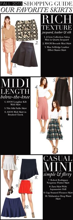 Fall Shopping Guide: Our Favorite Skirts   www.theglitterguide.com