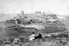 Old view of Parthenon, Athens Athens Acropolis, Athens Greece, Old Pictures, Old Photos, Greece Tours, Los Angeles Museum, Old Greek, Greek History, Athens History