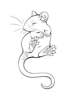 DeviantArt: More Like Rat Tattoo Design 1 by The-Monstrum Animal Drawings, Cute Drawings, Rat Tattoo, Shrink Art, Cute Rats, Pet Mice, Art Sketches, Art Reference, Tattoo Designs