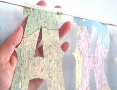 Around The World Banner Baby Shower Map Banner Map Theme