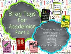 Brag Tags for Academics Part 2 {Behavior Incentive}