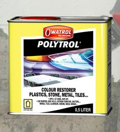 Polytrol - Fantastic colour restorer for tarnished and dulled plastics and fibreglass. Excellent for use on car bumpers, garden furniture, boat hulls, etc. You can also use it to restore the shine on chrome or polished metals.