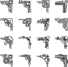 Simple corner ornaments vector
