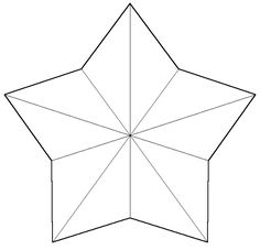 star template to print large | Print a star with only fold lines