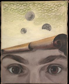 Max Ernst, Gala Éluard,1924, oil on canvas. This evocative portrait reveals the deeply intertwined personal and artistic lives of members of the Surrealist circle. Gala Éluard was muse and lover to three members of the Surrealist movement: her two husbands, poet Paul Éluard and artist Dalí, and Ernst, who painted this work based on Man Ray's photograph of Éluard's eyes.