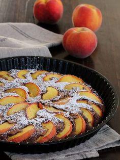 CROSTATA PESCHE CIOCCOLATO ricetta dolce da forno veloce