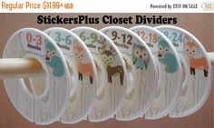 BIG SALE Baby Closet Dividers Organizers Assembled by StickersPlus