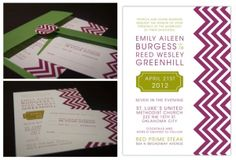 Emily and Reed | Wedding Invitation