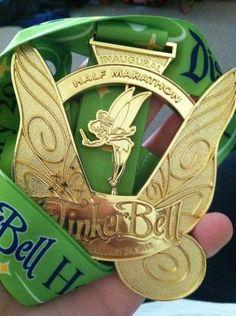 Disneyland Tinkerbell Half Marathon medal 2012