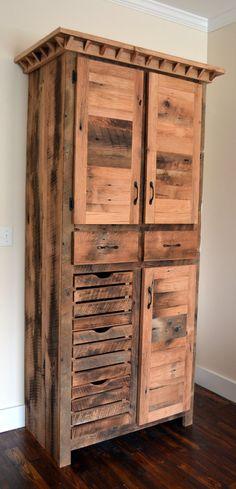 Reclaimed Barnwood Pantry Cabinet