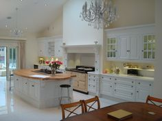 Clive Christian Victorian painted kitchen.