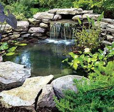 Stone Lined Pond