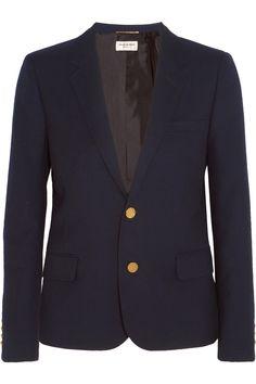Saint Laurent   Wool-twill blazer   NET-A-PORTER.COM