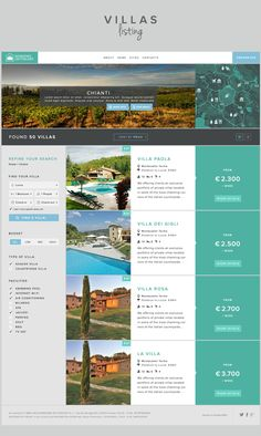 Windows on Tuscany Website redesign by Enzo Li Volti, via Behance