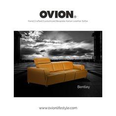 Think Sofas Think OVION - Luxury Italian leather sofas with headrest mechanism.
