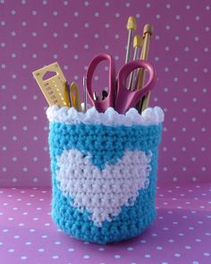 Heart Basket CROCHET PATTERN by bearsy43 on Etsy