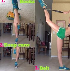 New ways to stretch for gymnastics/cheer, I love the belt idea, finally something to help me with my bow and arrow ☻