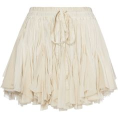 Cream Facette Skirt (111.035 CRC) ❤ liked on Polyvore featuring skirts, bottoms, falda and cream skirt