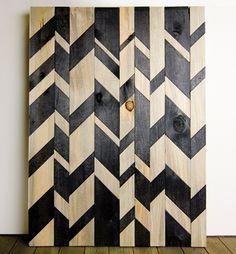 chevrons bois peint