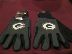 TWO (2) PAIRS OF GREEN BAY PACKERS, ALL PURPOSE SPORT UTILITY GLOVES #GreenBayPackers