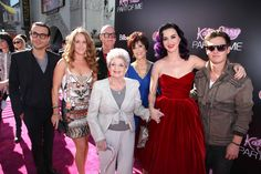 Katy Perry and her family at the Katy Perry: Part Of Me LA premiere